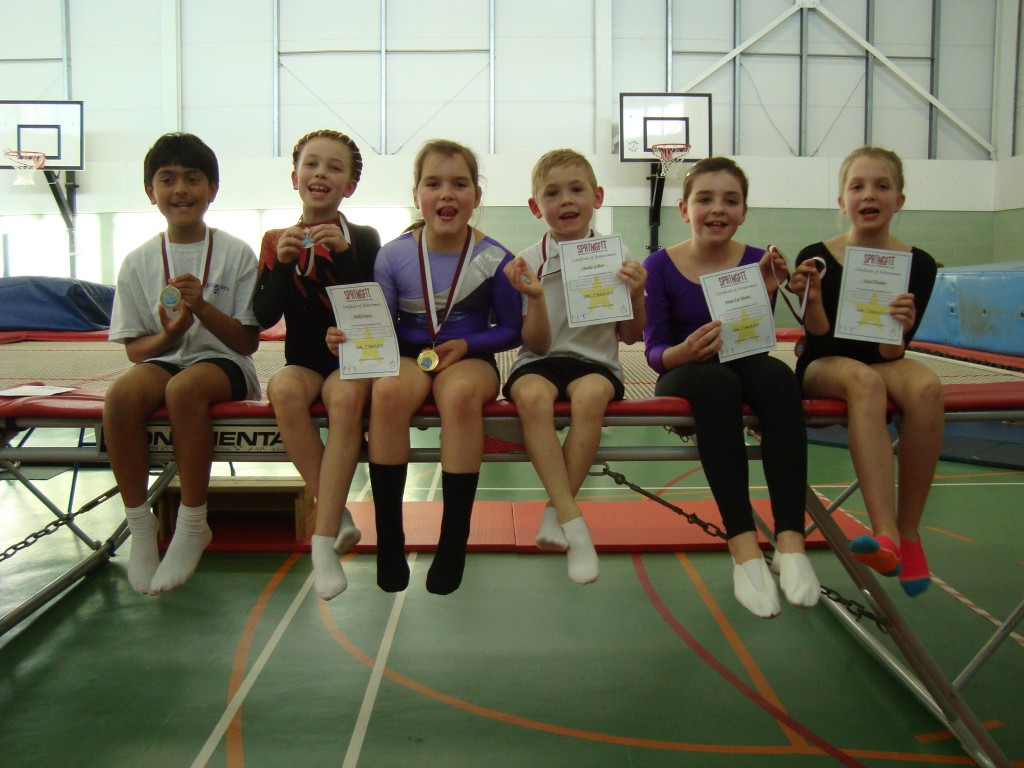 Beginners section medal winners