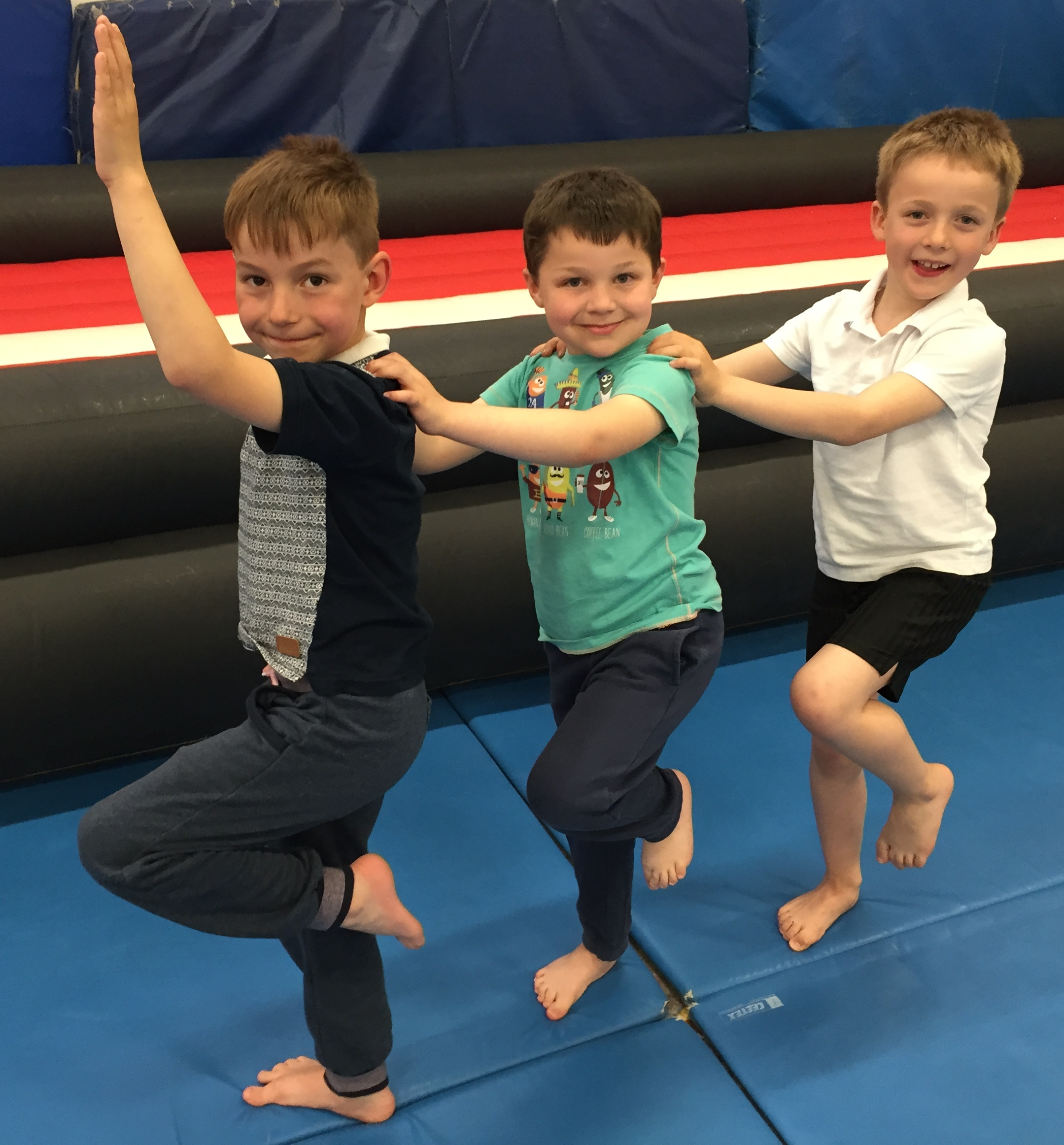 7 year old trio win crowd over at Acro competition – Springfit