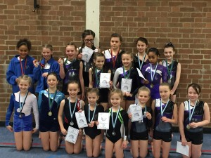 Medal Winning Tumbling Gymnasts